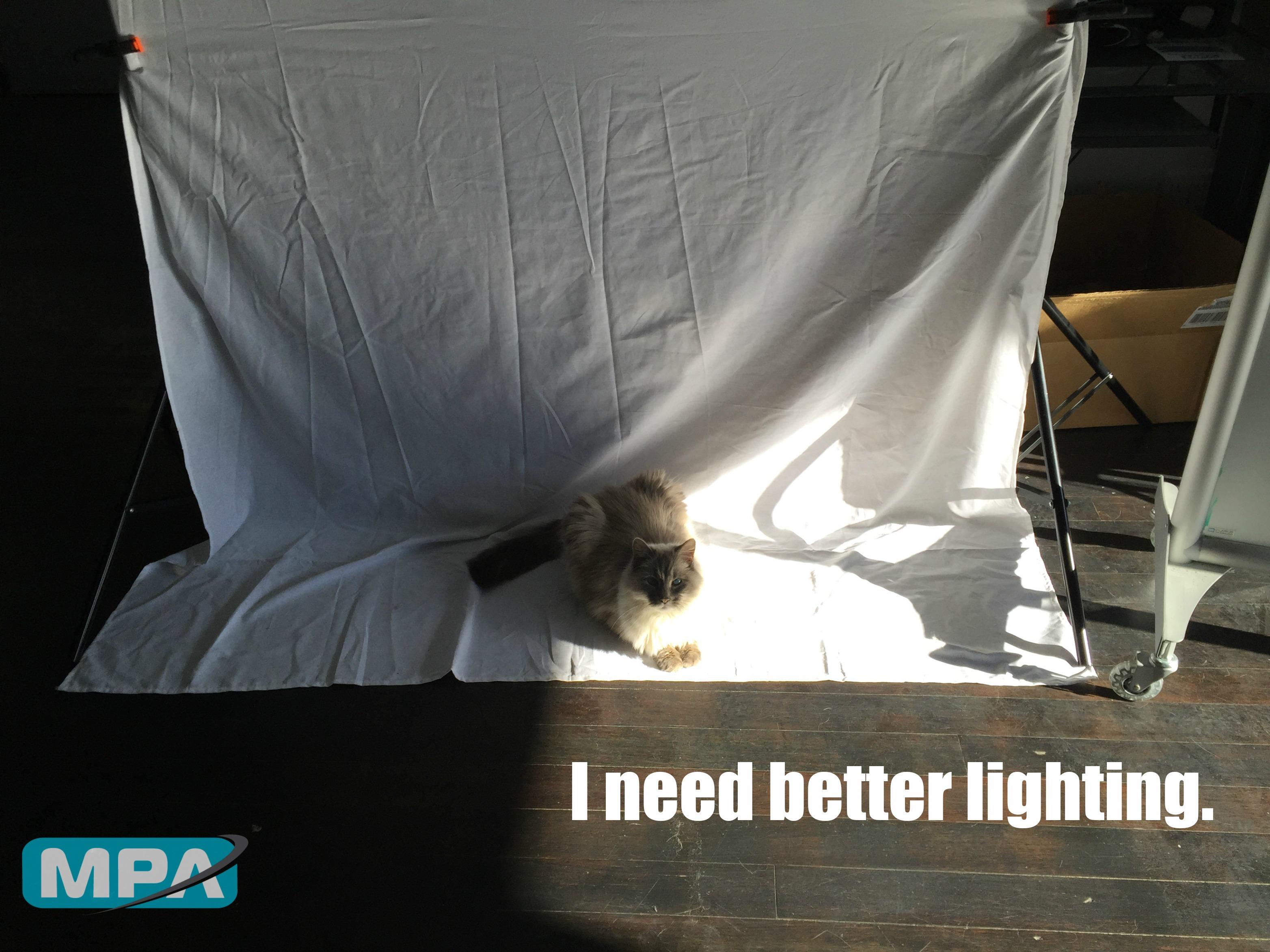 Moire needs better lighting