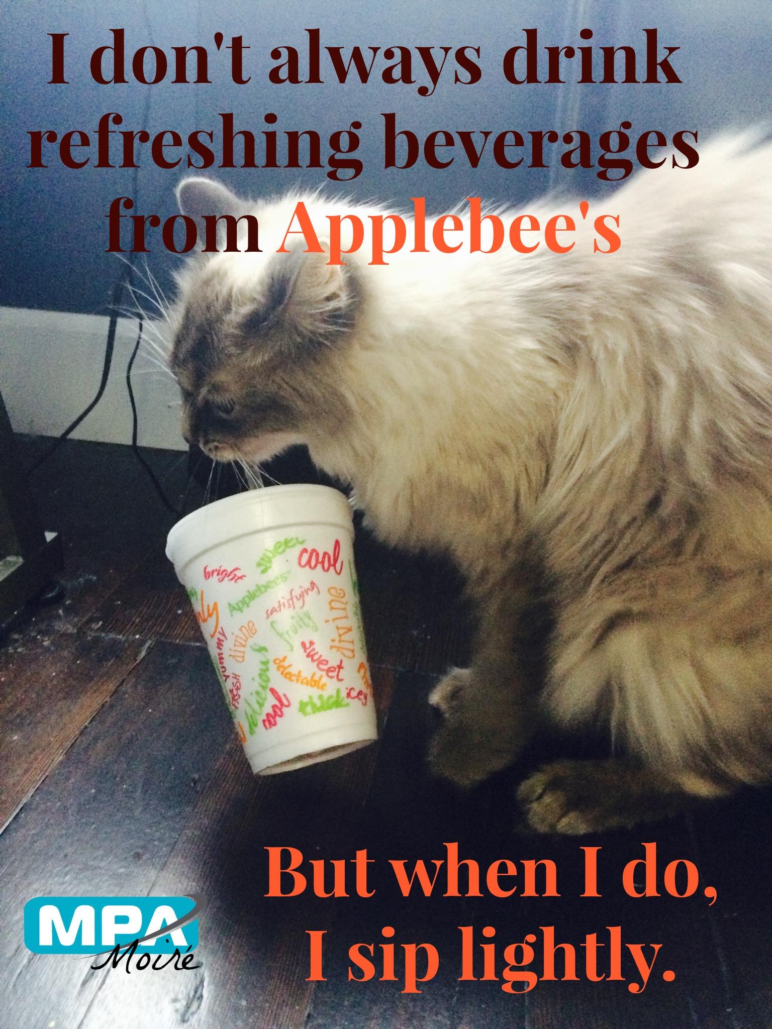 Most Interesting Cat Applebees meme